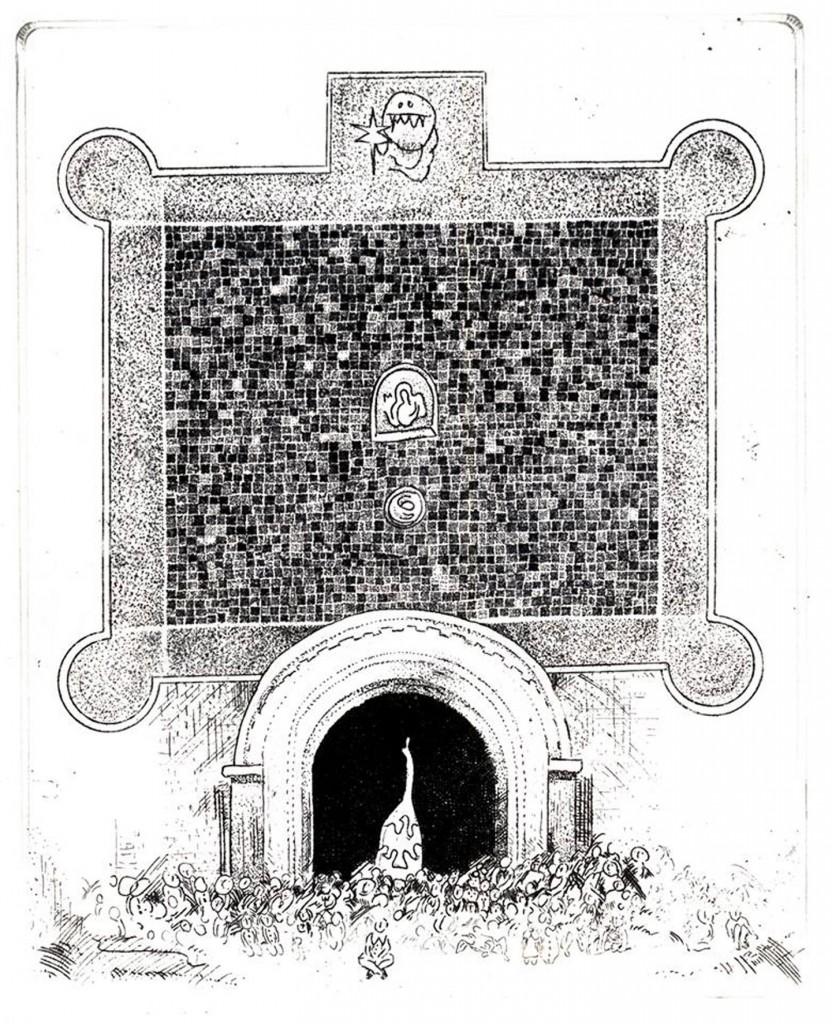 12 AHAnuszewska, Wspomnienie Suprasla, akwaforta, 12,6 x 10,2 cm