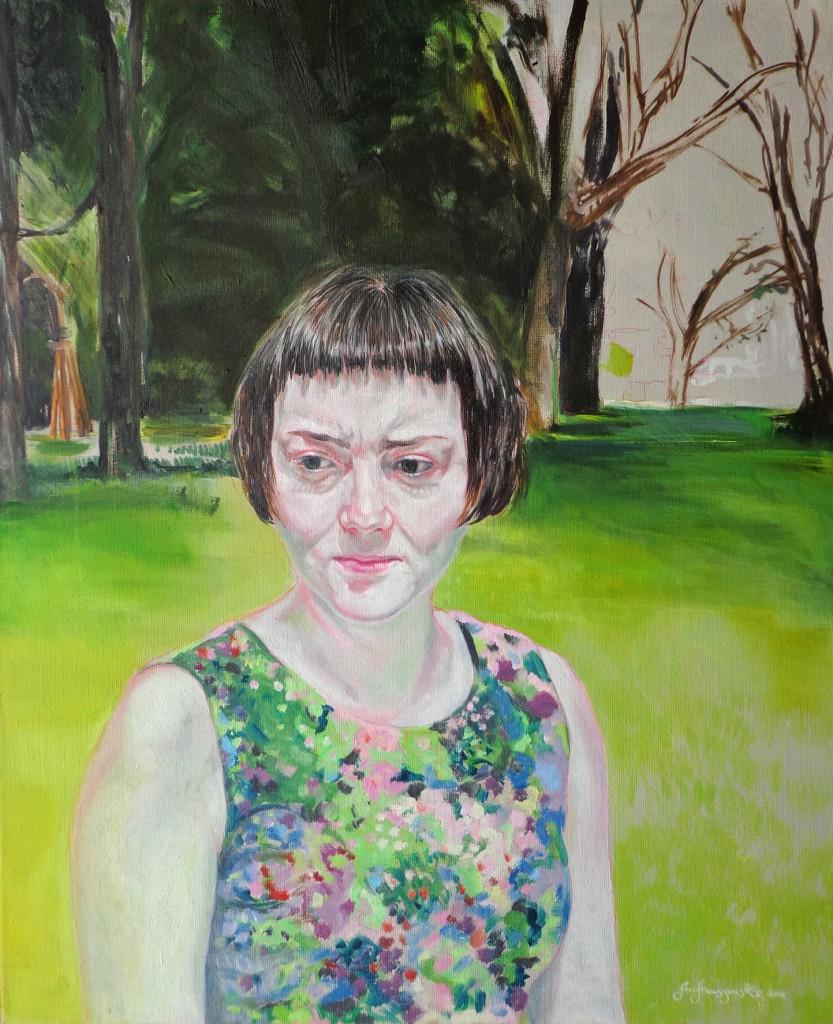 3 AHAnuszewska, Mina, olej na pąĘtnie, 73 x 60 cm