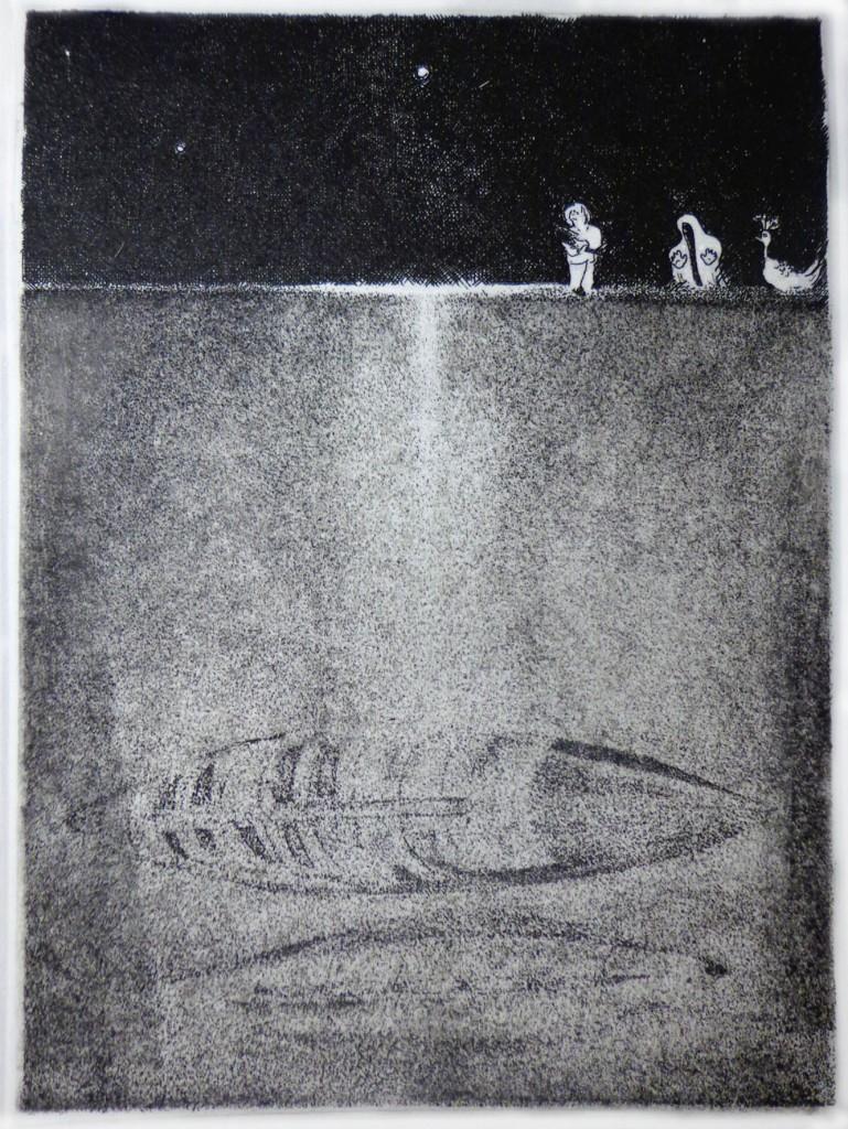 8 AHAnuszewska, Trzy Czasy, akwaforta, 12,6 x 9,2 cm