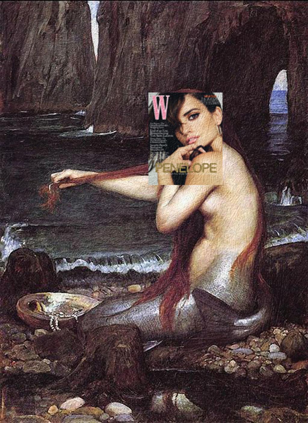 Penelope and mermaid.