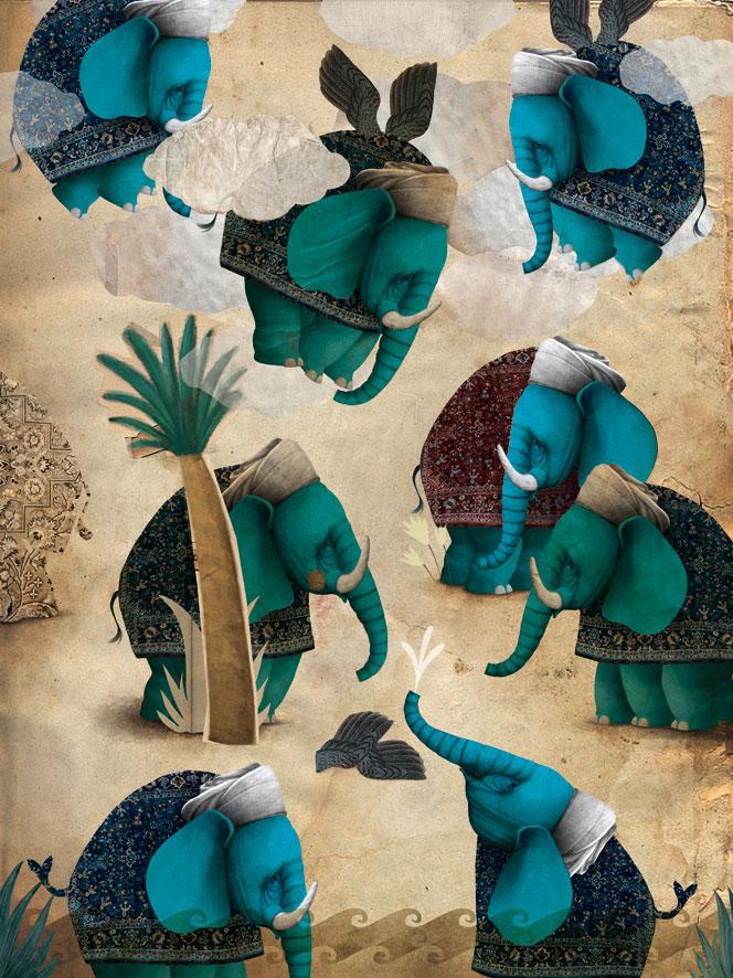 the flying elephants