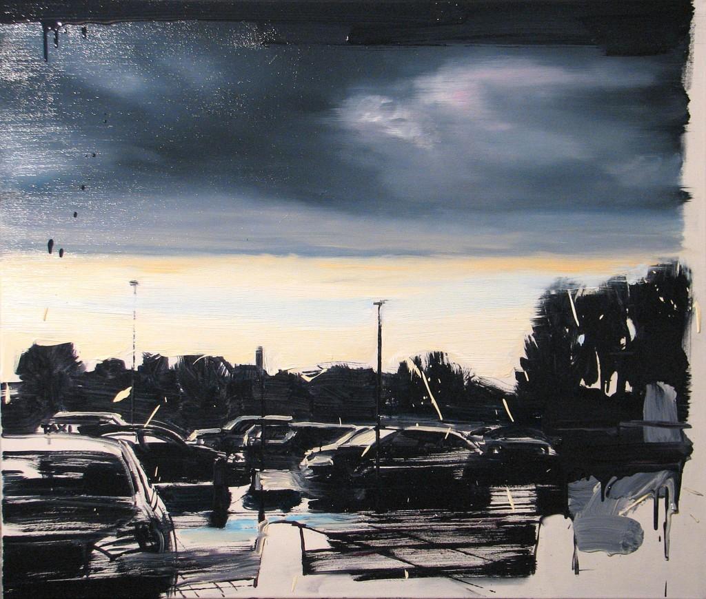 'A w weekendy zawsze lało', 2014, 85x100 cm, olej na płótnie