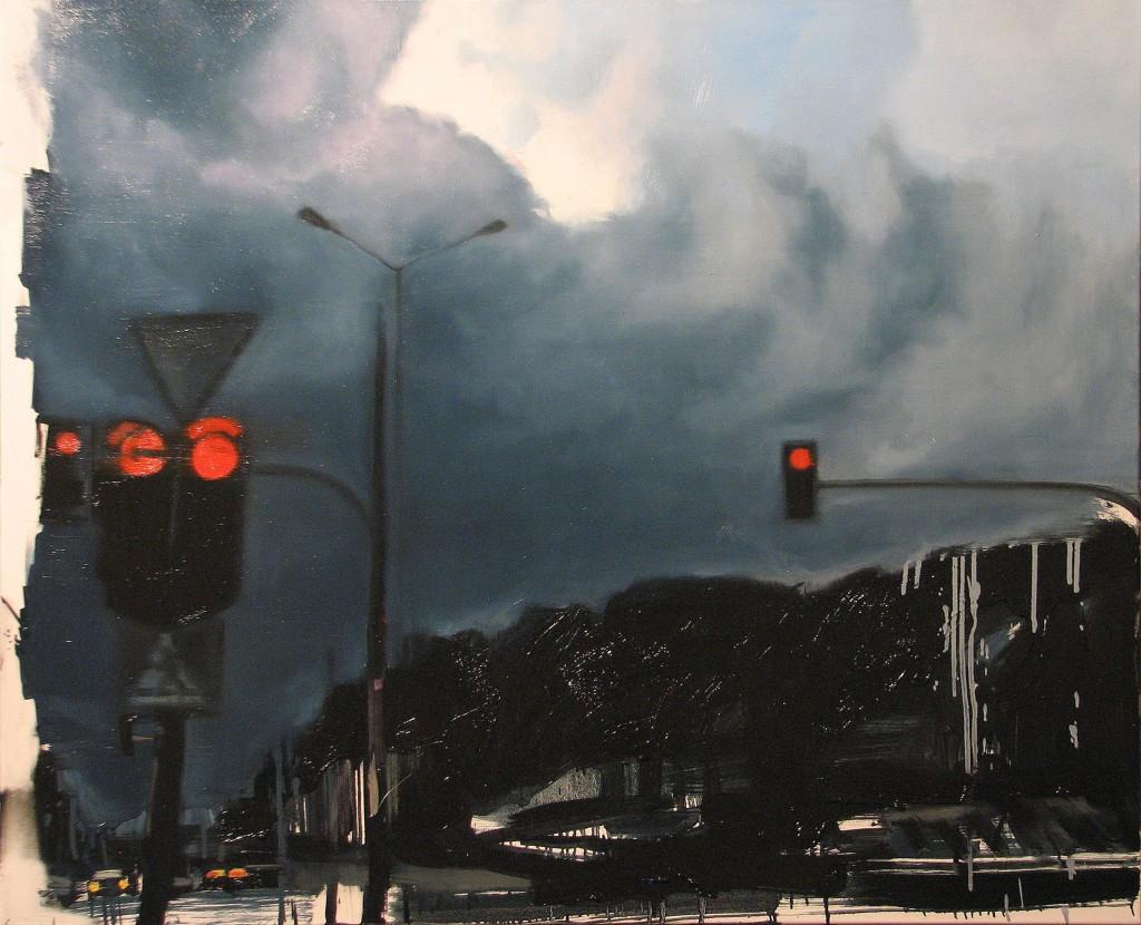 'Ale ładne chmury, tato', 2014, 90x110 cm, olej na płótnie
