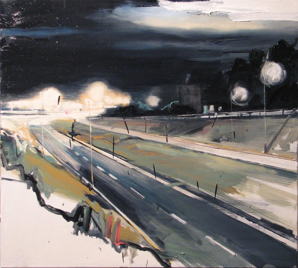'Ciągle łuki i zakręty', 2014, 90x100 cm, olej na płótnie