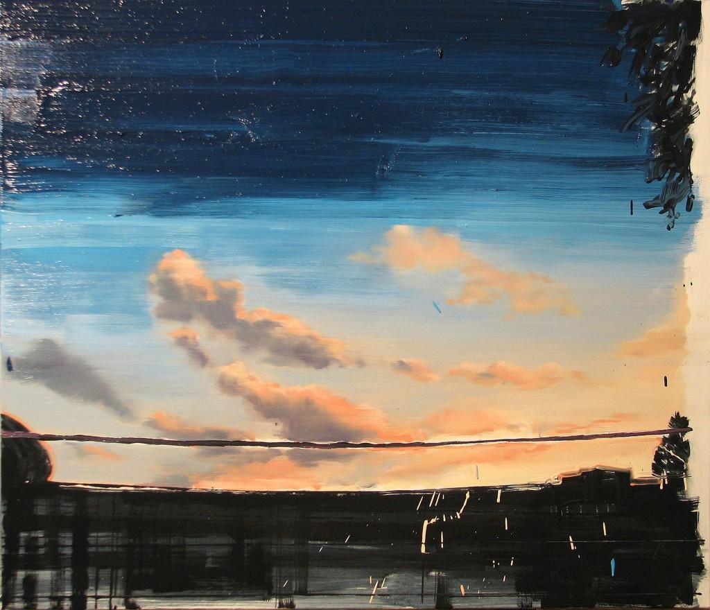'Czekając na cud', 2014, 90x105 cm, olej na płótnie