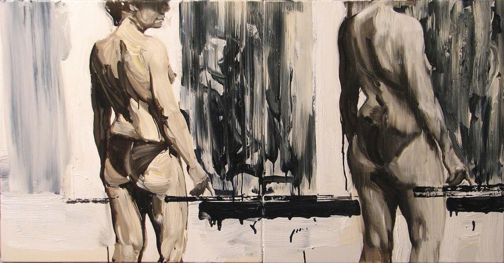 'Czekam i czekam', 2014, 60x115 cm, olej na płótnie