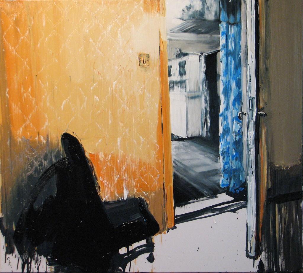'Na progu', 2014, 95x105 cm, olej na płótnie
