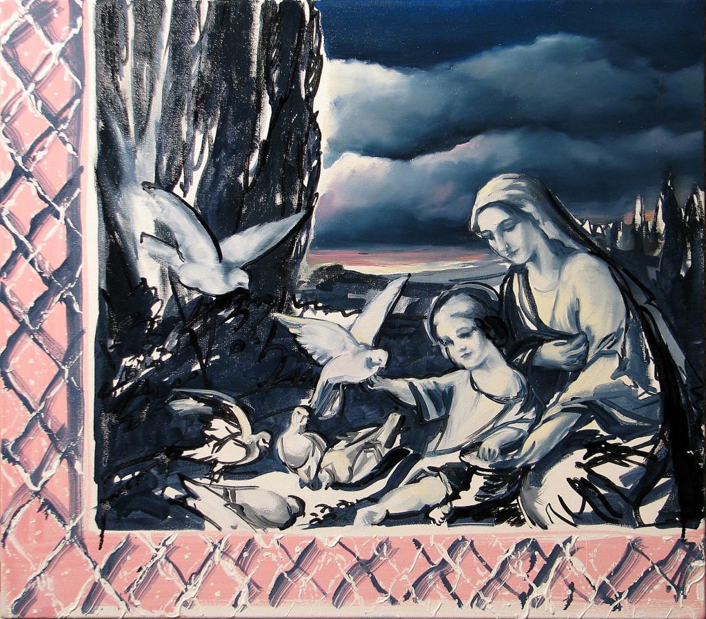 'Niezły widok', 2013, 75x85 cm, olej na płótnie