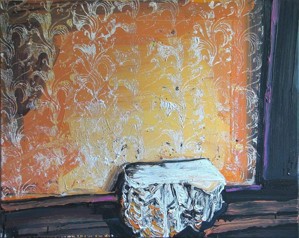 'Nigdy cię tam nie zabiorę', 2014, 80x100 cm, olej na płótnie