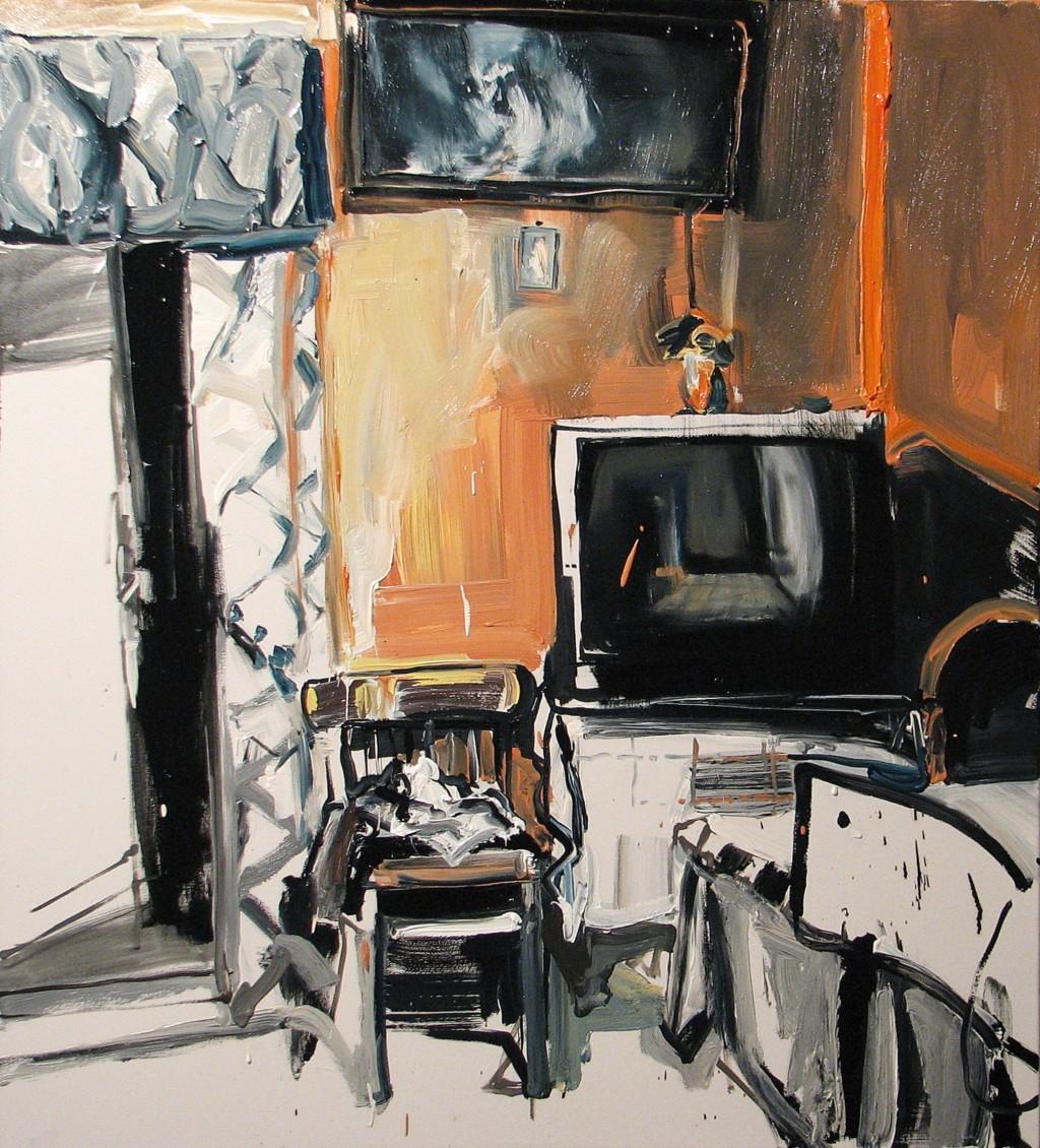 'Okna i drzwi', 2014, 105x95 cm, olej na płótnie