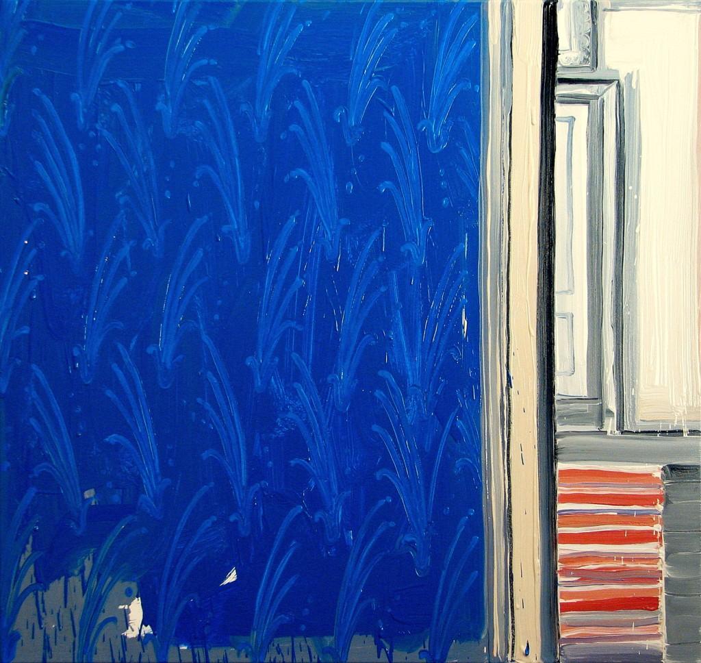 'Opisywanie świata. Tu i Tam', 2012, 75x80 cm, olej na płótnie