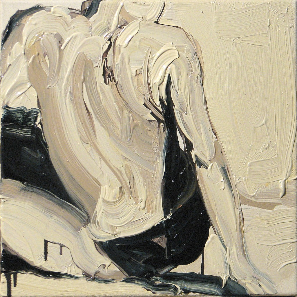 'Plamy na słońcu. II.', 2014, 40x40 cm, olej na płótnie