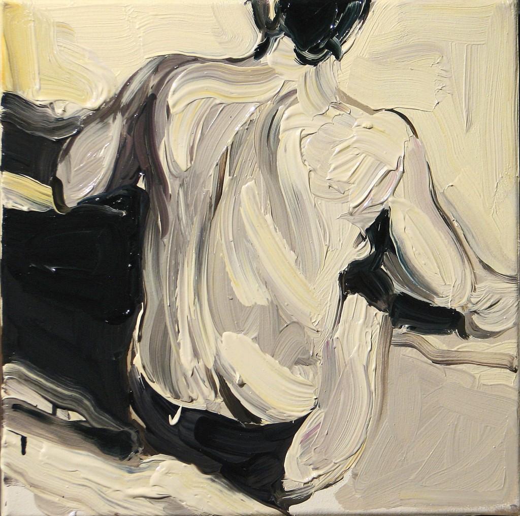 'Plamy na słońcu. III.', 2014, 40x40 cm, olej na płótnie
