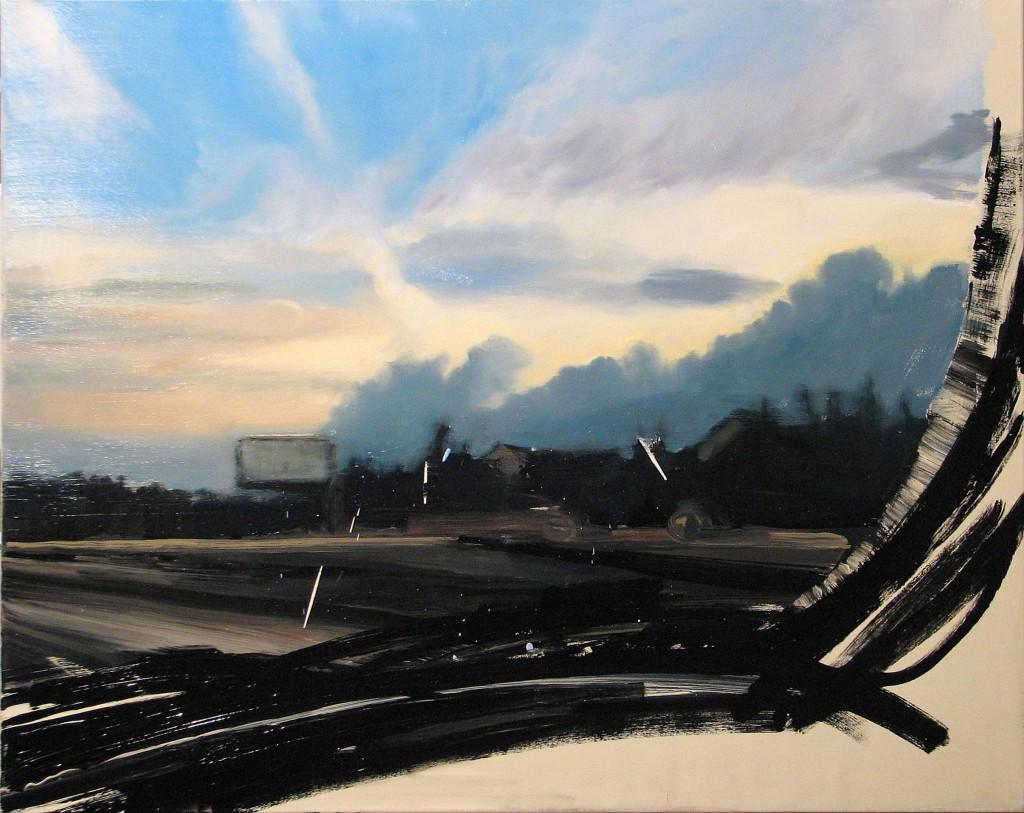 'Przerwa na reklamy', 2014, 80x100 cm, olej na płótnie