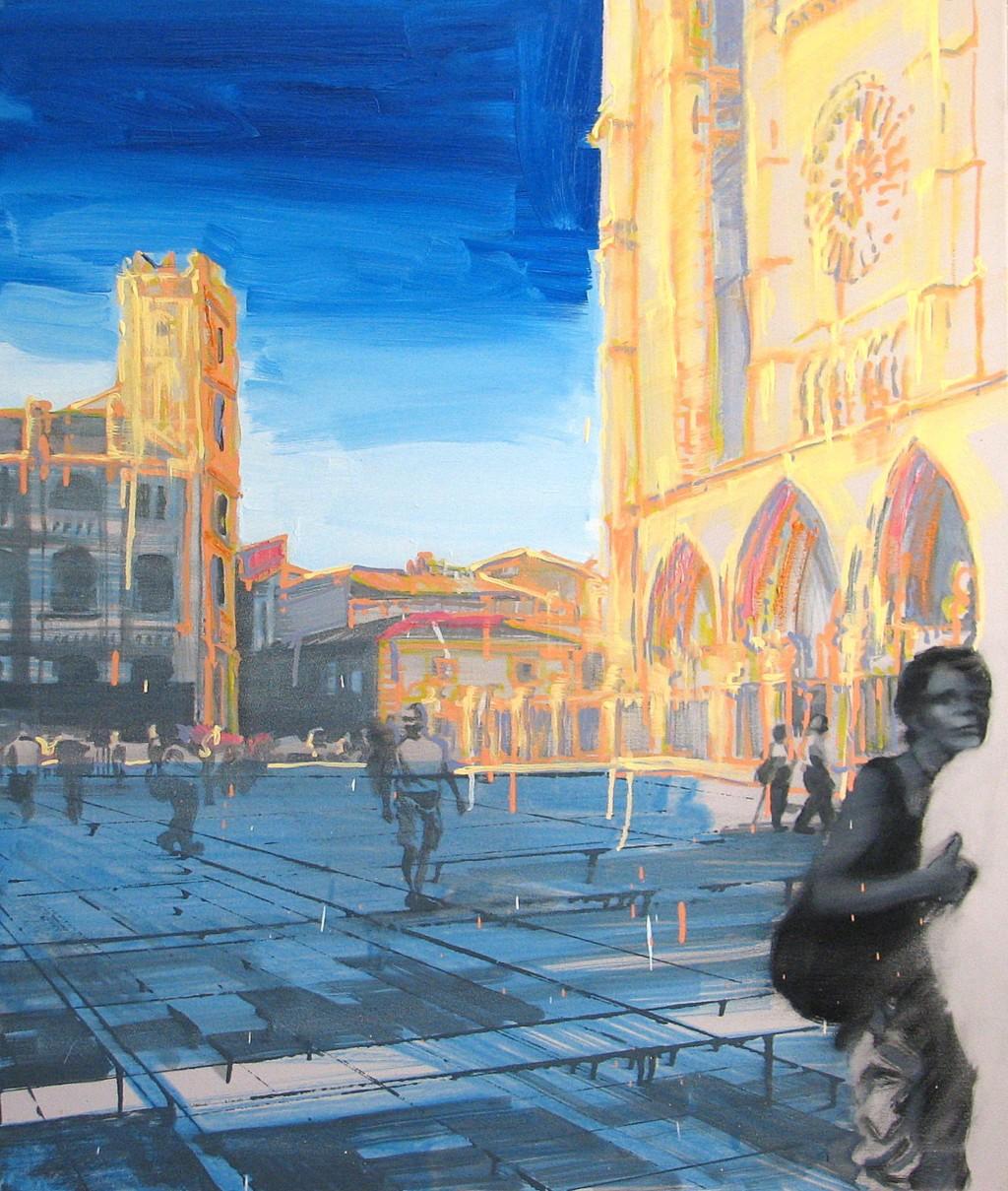 'Słoneczne wakacje', 2014, 100x85 cm, olej na płótnie