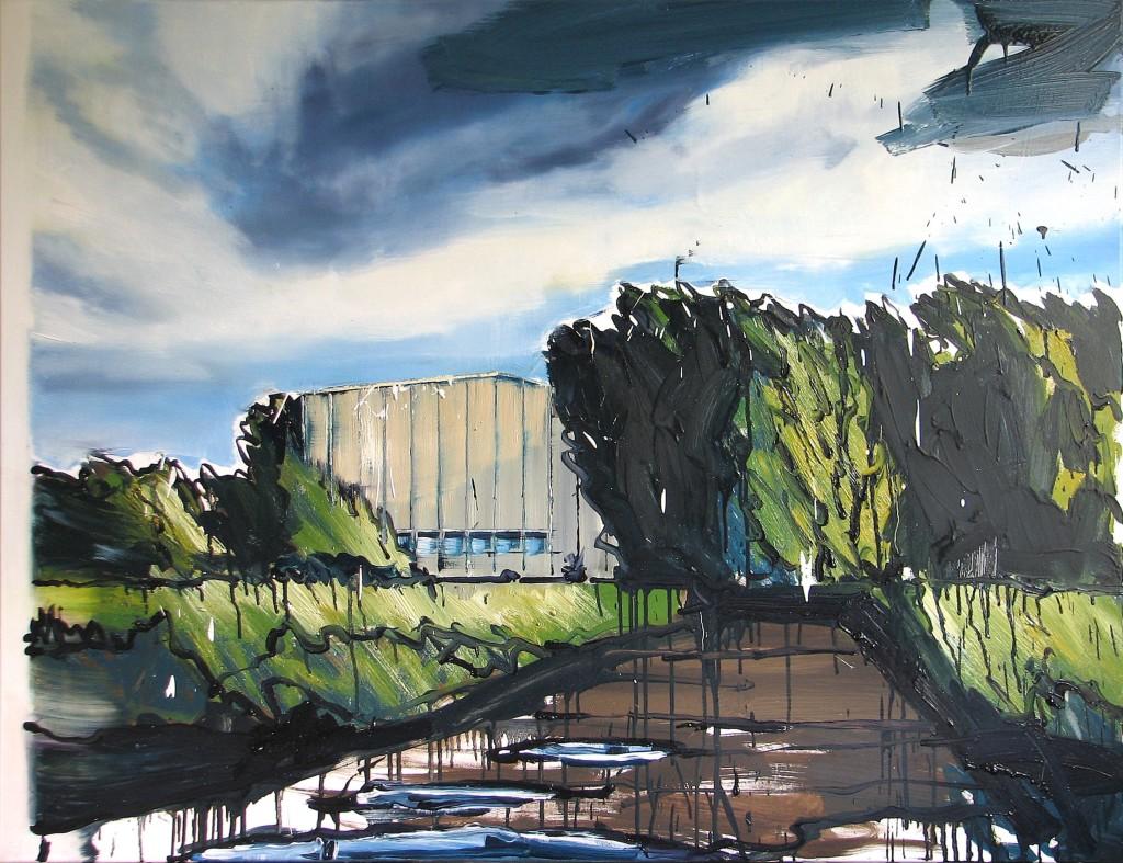 'Tu zawsze było za daleko', 2014, 100x130 cm, olej na płótnie