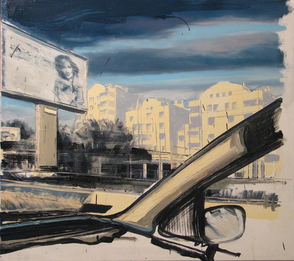'W środku i na zewnątrz', 2014, 85x95 cm, olej na płótnie