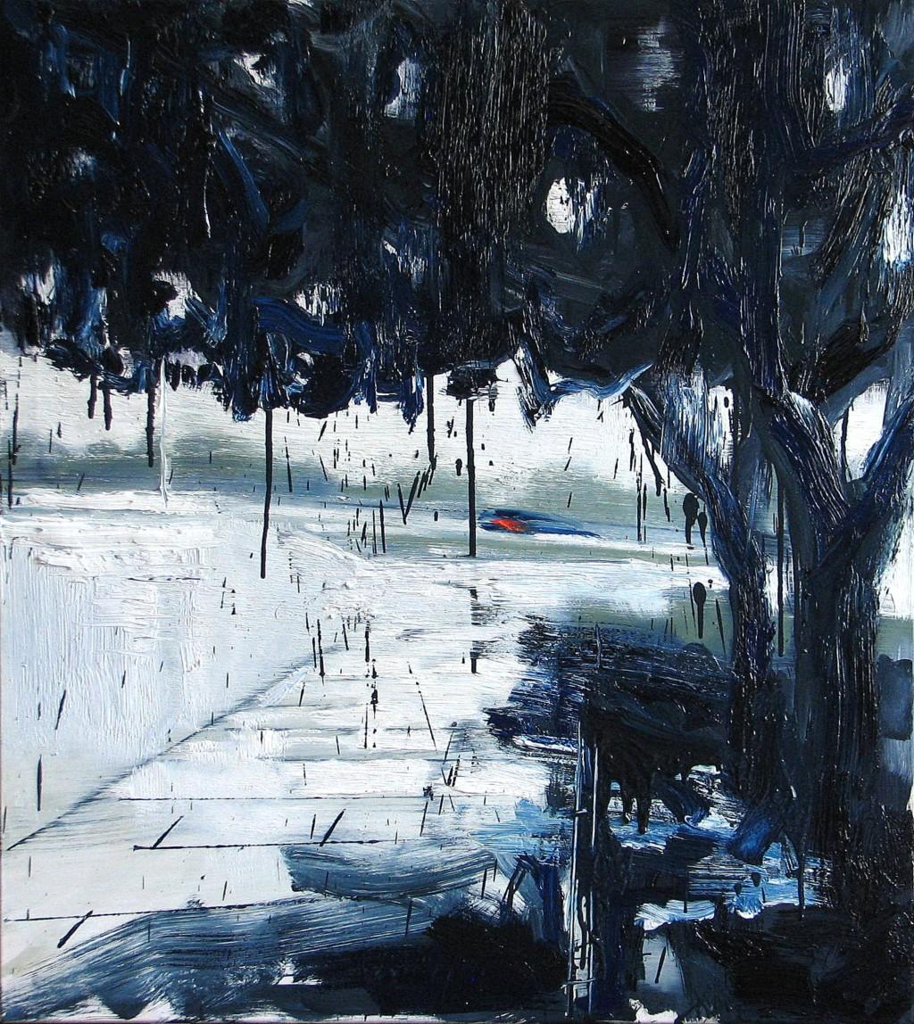 'Zapach deszczu i mokrych włosów', 2014, 95x85 cm, olej na płótnie